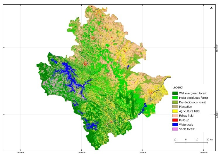 Land Cover Land Use Types in Shimoga district