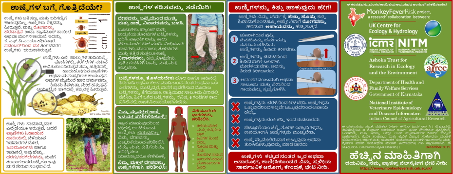 Tick information card in Kannada - KFD project