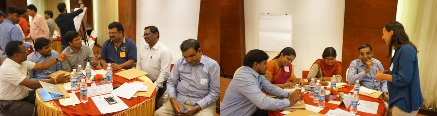 Stakeholders and researchers in dicussion at workshop in Bangalore August 2018 - photo by Darshan Naryan